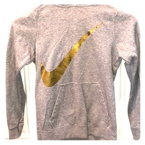 Nike Hoodie with Gold Logo